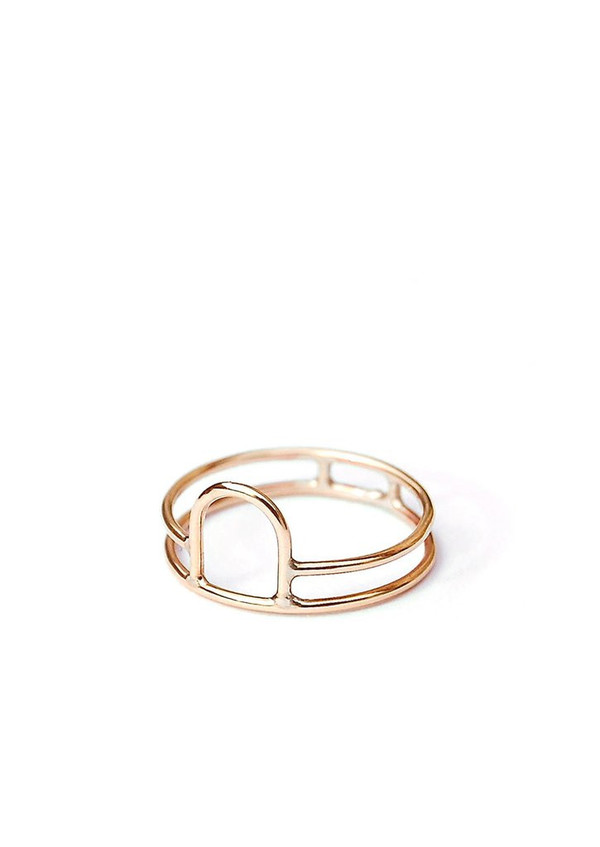 Tiro Tiro Open Arch Ring 14k Gold