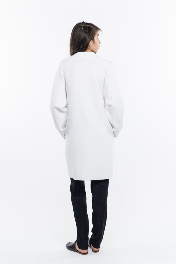 Norma Kamali Mens Bonded Trench - White