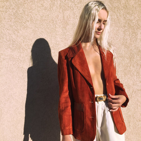 Kaleidos Vintage Burnt Orange Suede Jacket