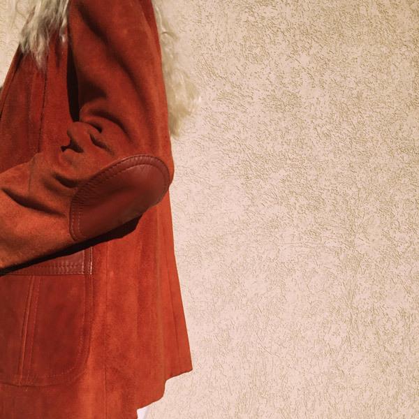 Kaleidos Vintage Burnt Orange Suede Jacket