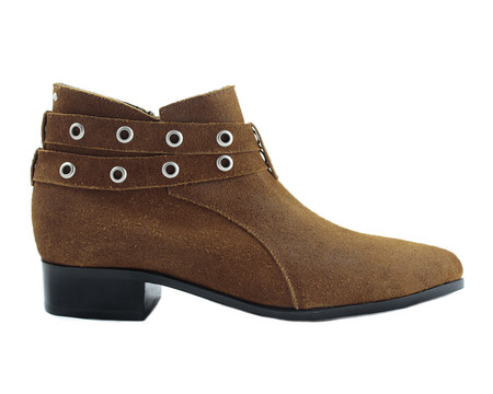 Cartel Footwear AW16 Double Strap Bootie - Salto Suede