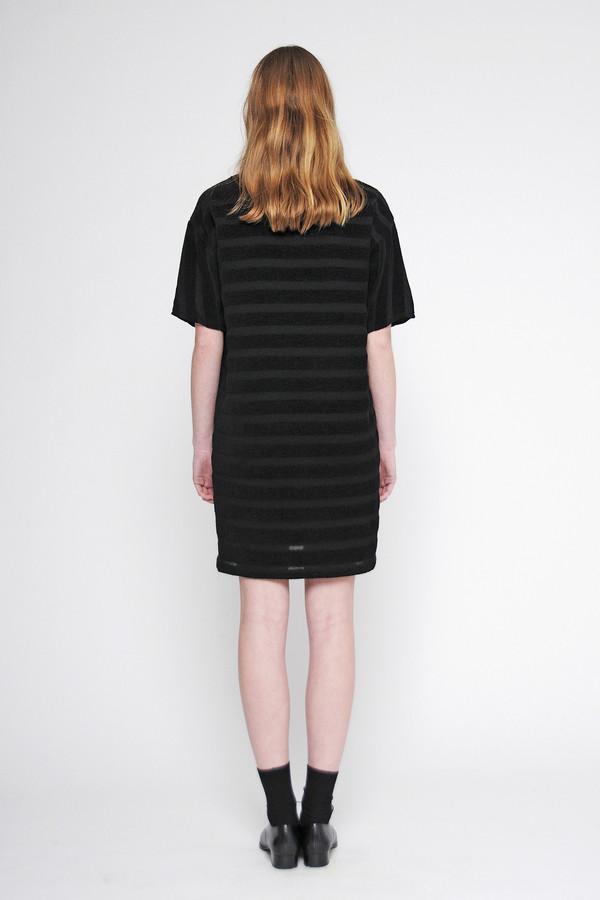 """Diarte """"Arenal"""" Textured Stripe Crew Neck Dress"""