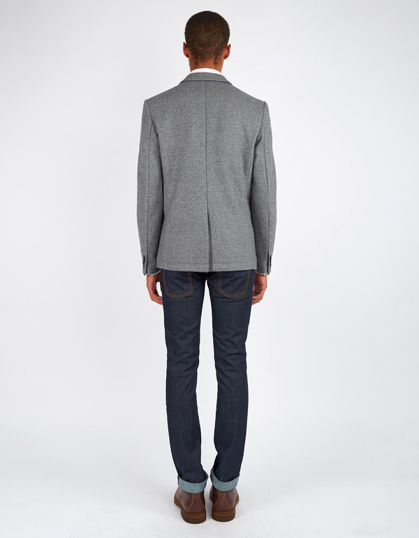 Men's Minimum Black Enzo Blazer Light Grey Melange