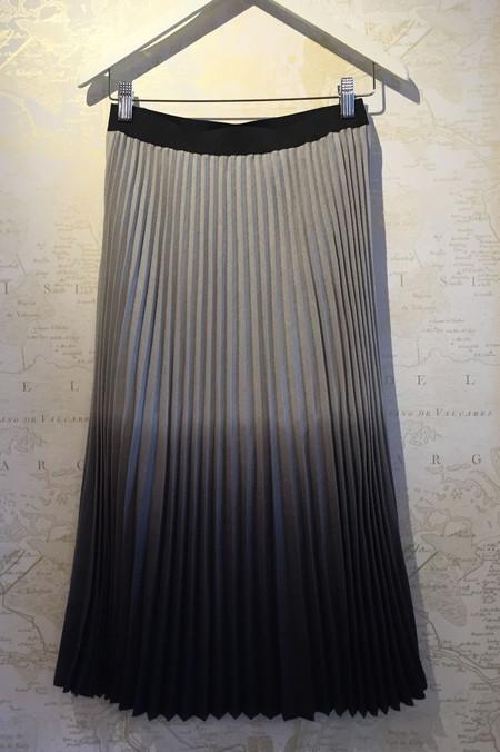 Clu Ombré pleated wool skirt