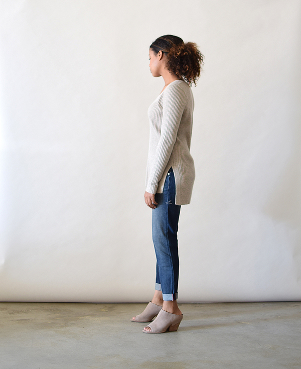 Lumiere Basic Ribbed Sweater