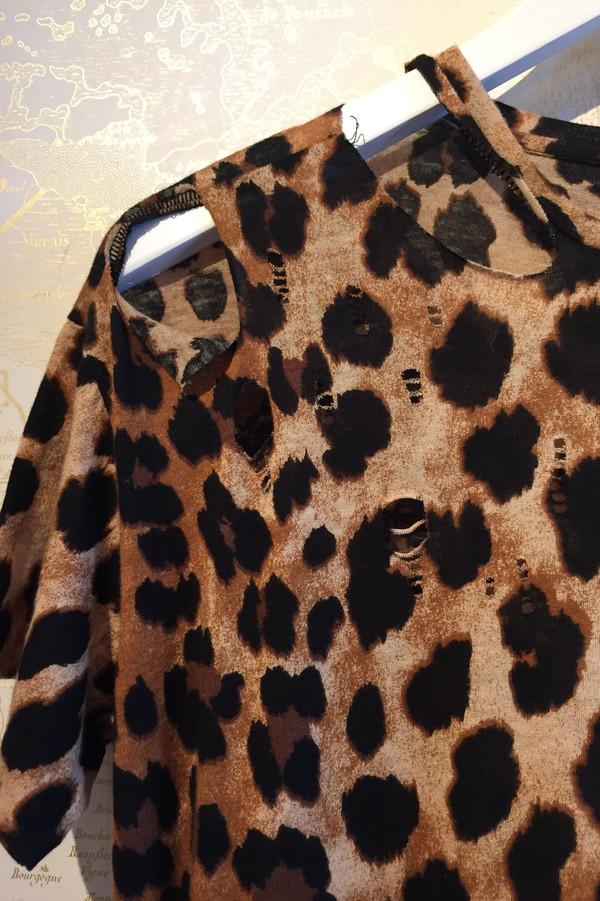 R13 Distressed leopard dress