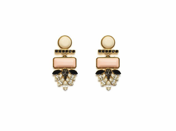 LIZZIE FORTUNATO MEXICO DAHLIA EARRINGS