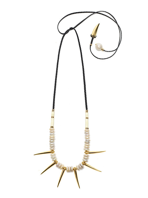 LIZZIE FORTUNATO - PYRAMID II NECKLACE