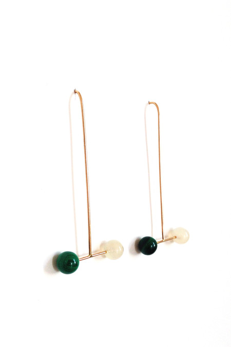 The Things We Keep Cuzcoe earrings in malachite and moonstone
