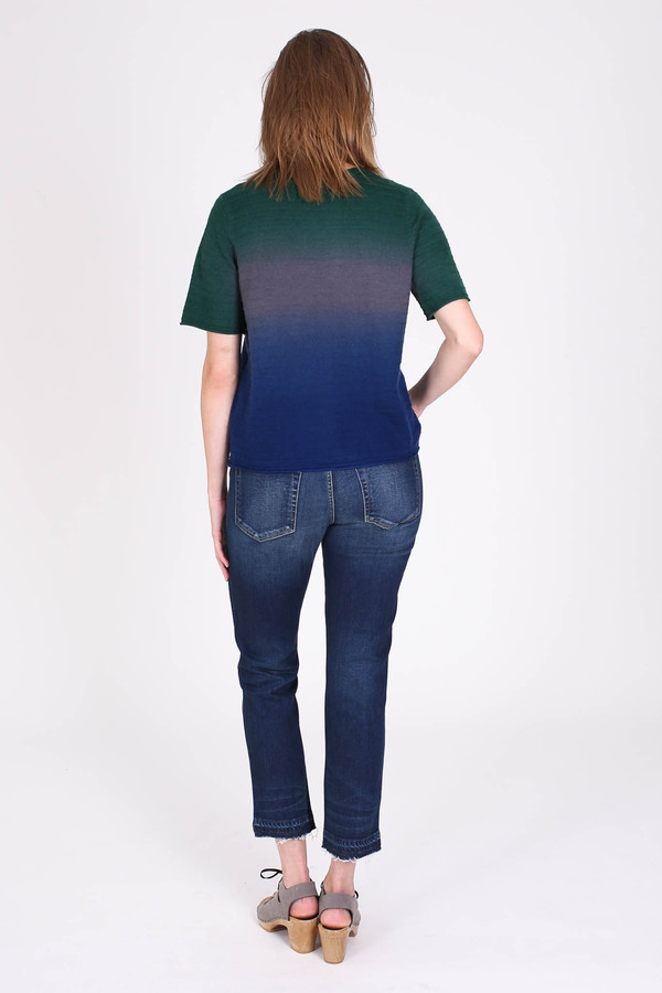 Raquel Allegra Dip dye tee in midnight
