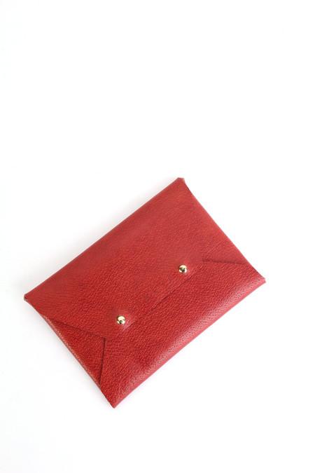Sevlyn Envelope clutch in red