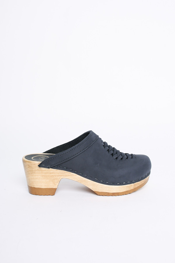 No. 6 Store Clogs Heidi woven clog in navy