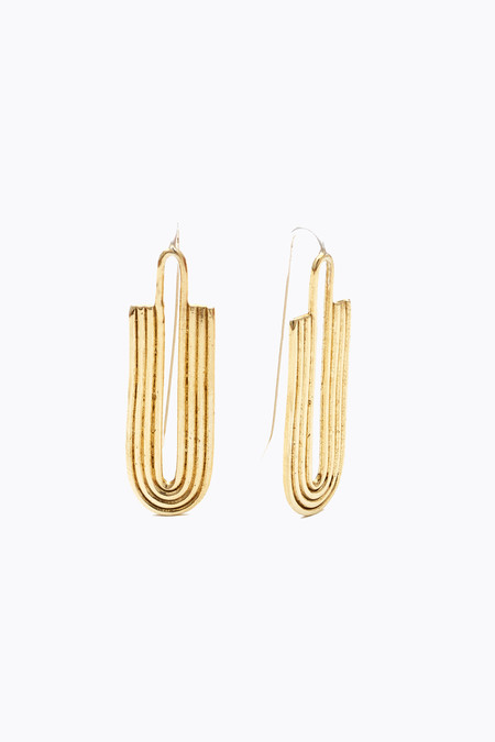 Odette New York Kaj earrings in brass