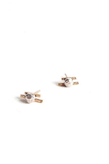 Emily Triplett Lux earrings in yellow gold/silver