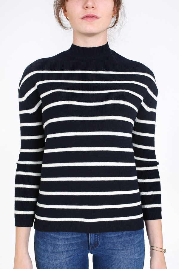 M.i.h Jeans Rib breton sweater in navy and cream