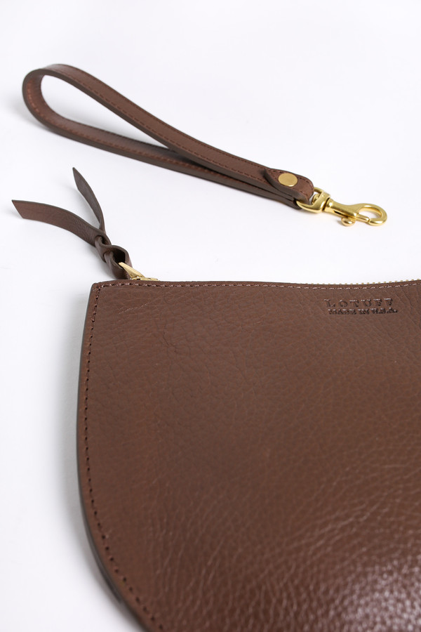 Lotuff Round pouch wristlet in clay
