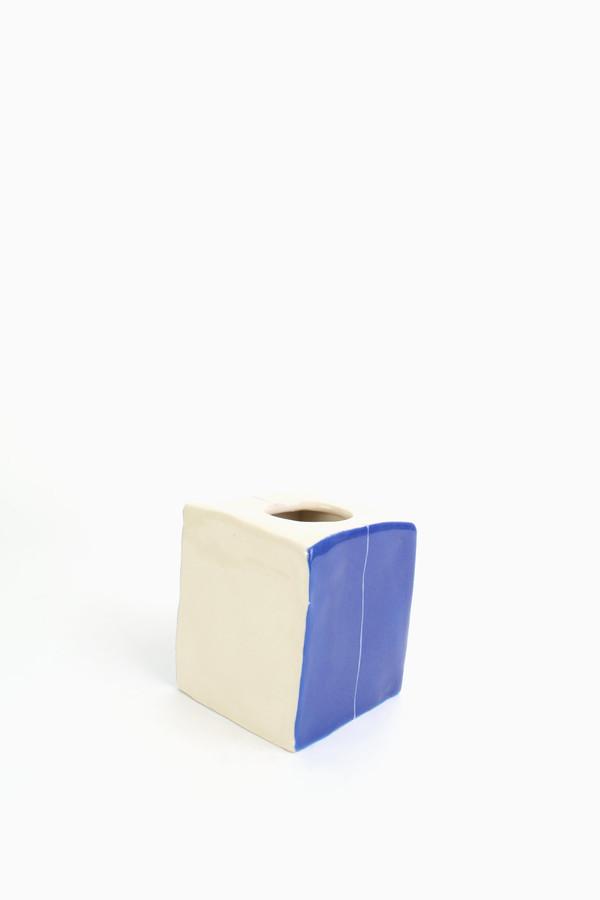 BTW Ceramics Short square vase