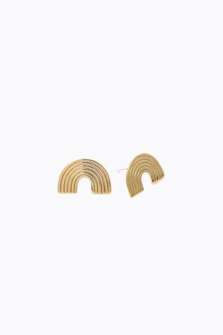 Odette New York Uta earrings in brass