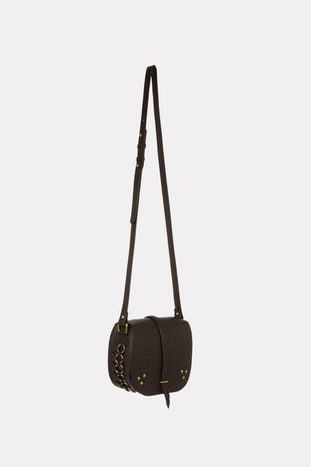 Jerome Dreyfuss Victor crossbody bag in black/brass