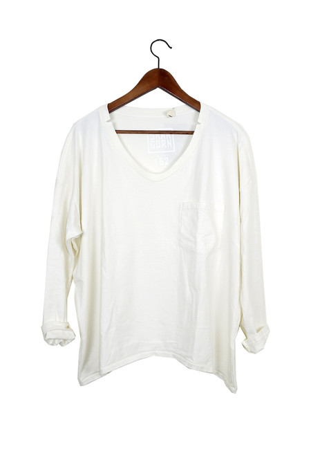 Skargorn #62 Long Sleeve Tee, Milk Wash
