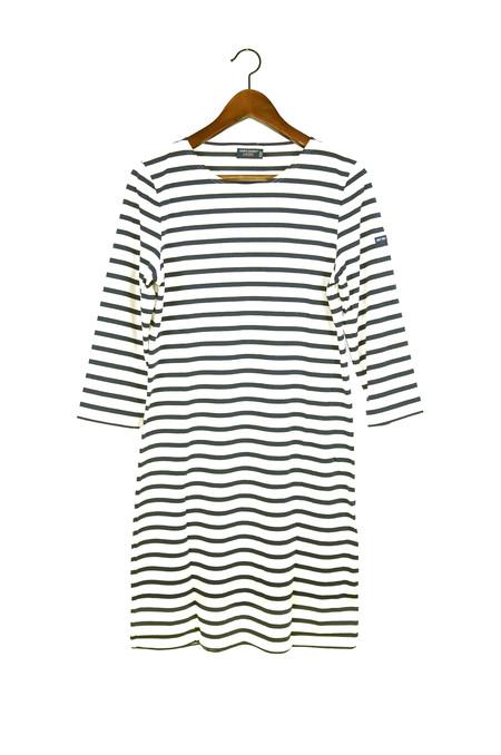 SAINT JAMES Galathee Dress, Ecru/Marine