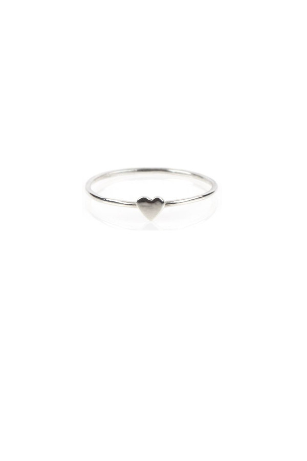 Catbird Heart Ring, Sterling Silver