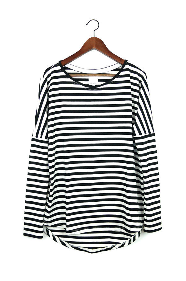 Rue Stiic Long Sleeve Top, Classic Stripe