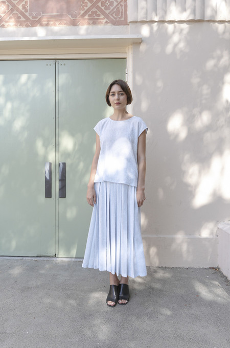 SVILU Pleated Skirt in Mist