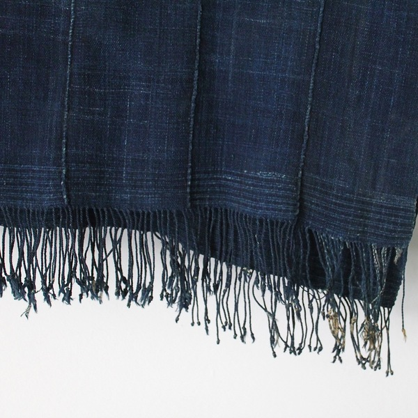 Unknown Softened Indigo Throw