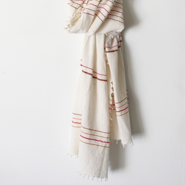 Unknown Tassel Stripe Scarf