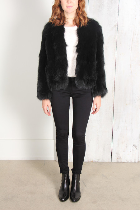 SPRUNG JUDY FOX FUR JACKET