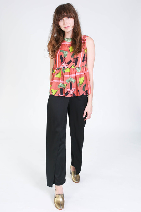 Rachel Comey Sleeveless longfellow top in clay print