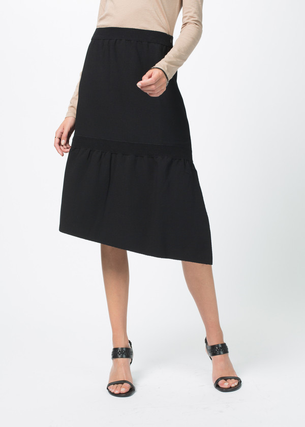 Sara Lanzi Stretch Crepe Skirt