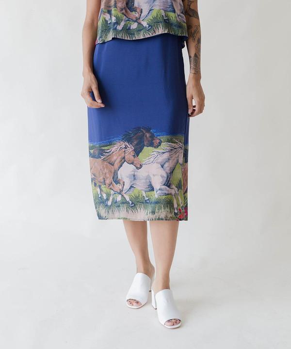 Carleen Horses Overlay Dress