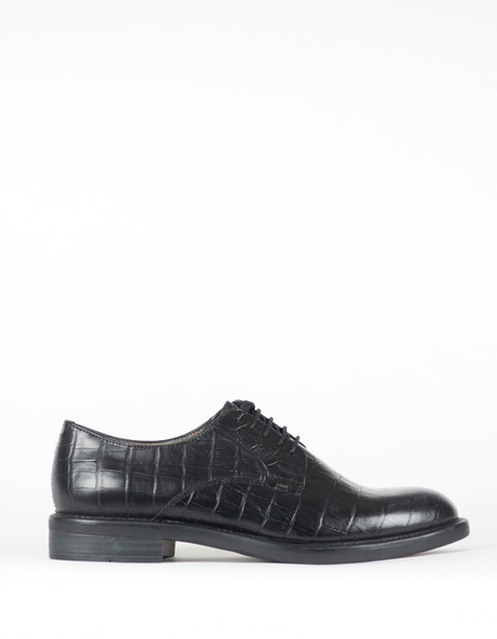 Vagabond Amina Croc Oxford Black
