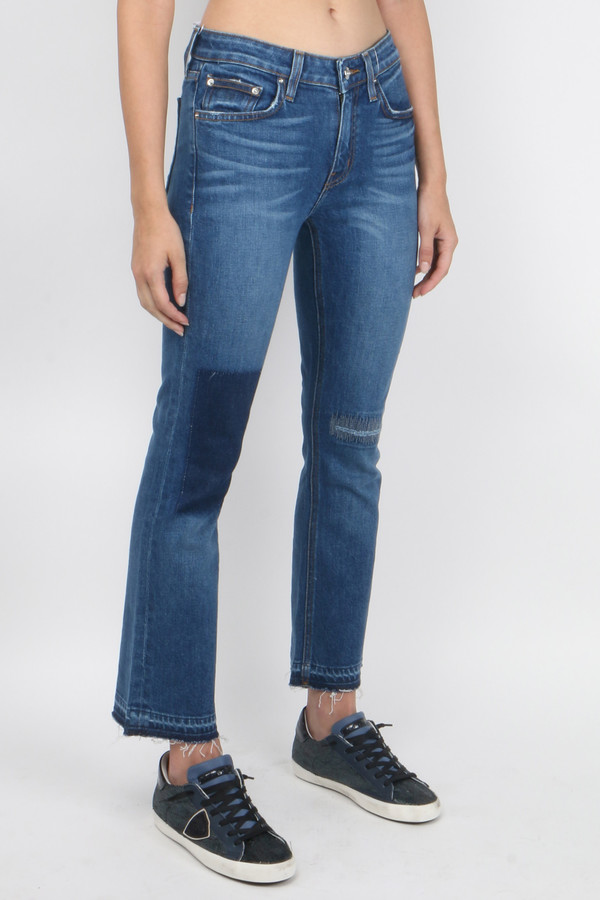 Derek Lam 10 Crosby Gia Mid-Rise Cropped Flare