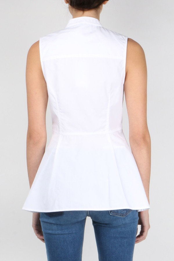 Derek Lam 10 Crosby S/L 3-Button Shirt W/ Peplum