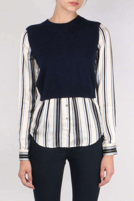 Veronica Beard Mellow Mixed Media Sweater