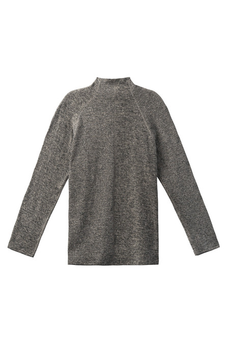 Men's Wings + Horns Knit Linen Turtleneck | Melange Black