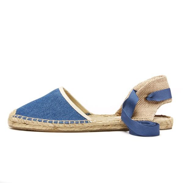 Soludos Classic Sandal in Vintage Denim