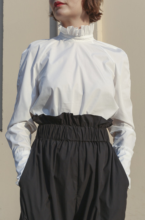 Suzanne Rae Paperbag Waist Pants in Black