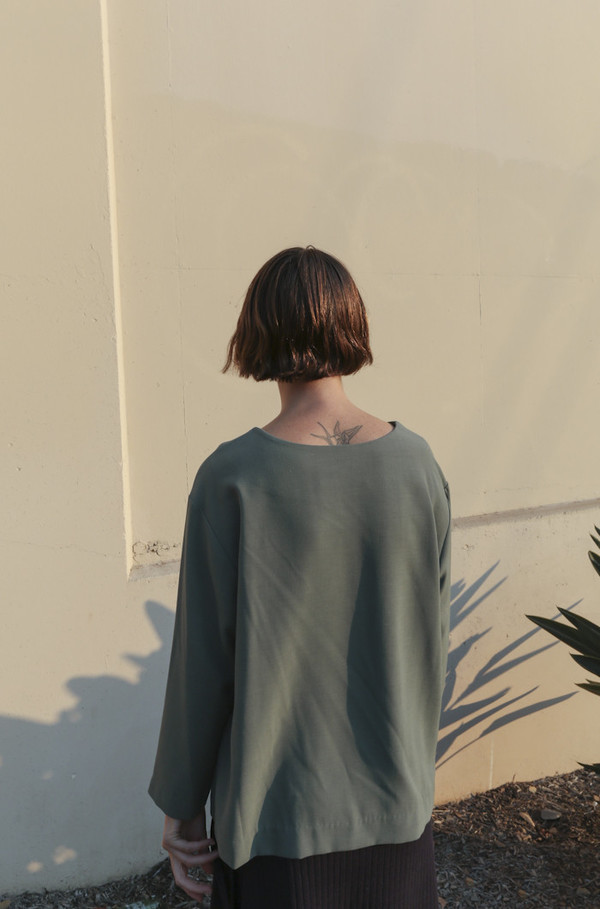 Town Clothes Nona Top in Sage