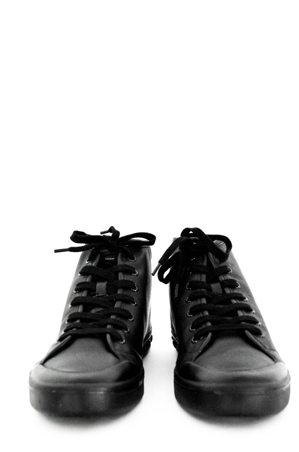 Men's Rag and Bone Black Leather Standard Issue High Top