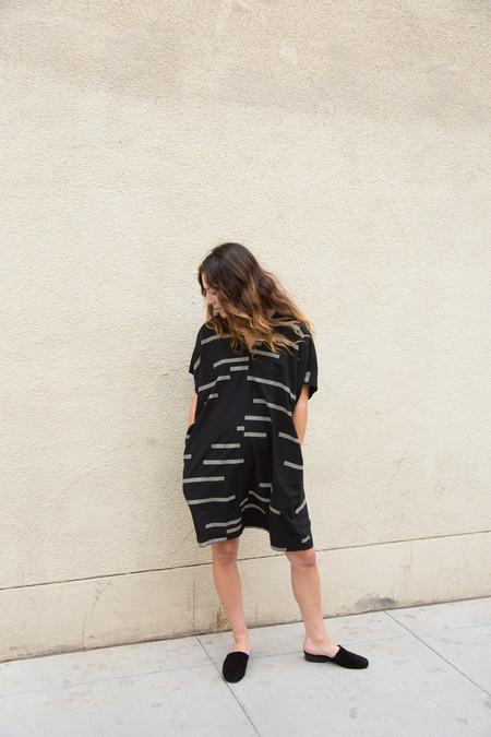 Uzi Broken Stripe V Dress