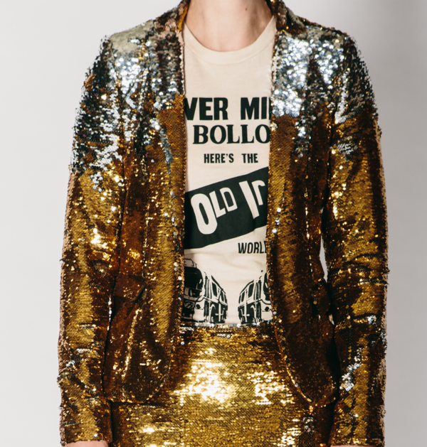 Any Old Iron Gold/Silver Sequin Jacket