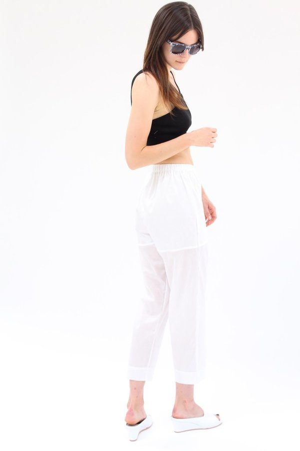 Lina Rennell Basic Pant White