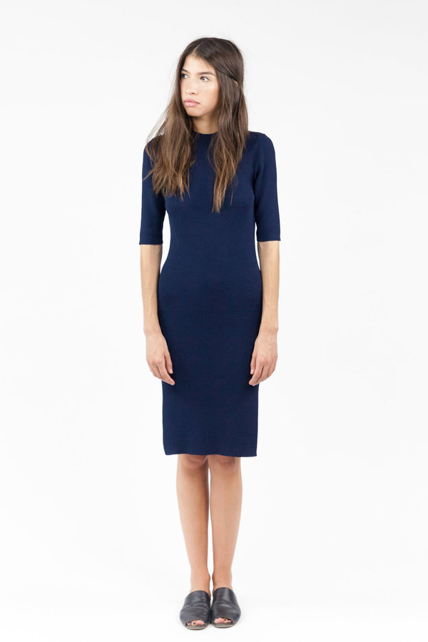 Objects without Meaning Rib Tee Dress - Navy