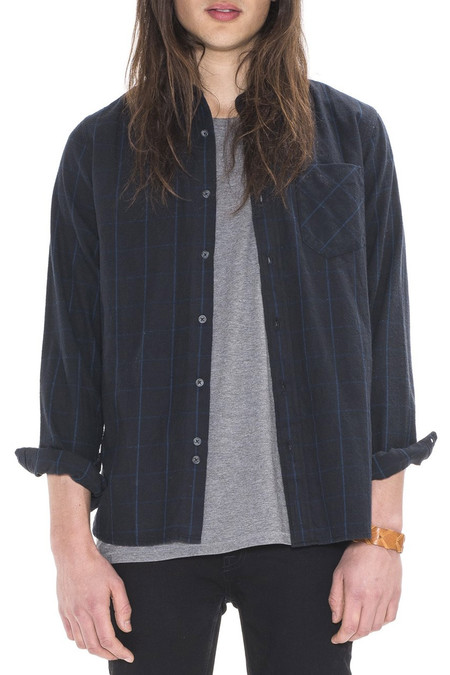 Men's Nudie Jeans Henry Flannel Check | Black