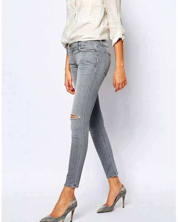 Current Elliott 'The Stiletto' Released Hem Skinny Jeans