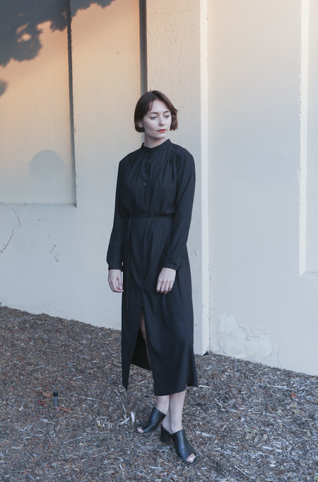 Wolcott : Takemoto Vashon Dress in Black